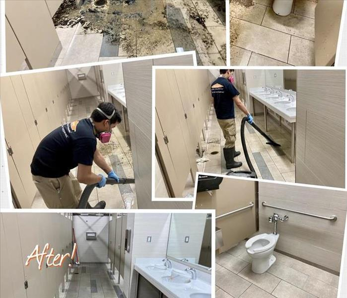 pictures of restroom cleanup