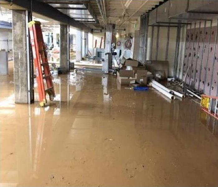flood in building