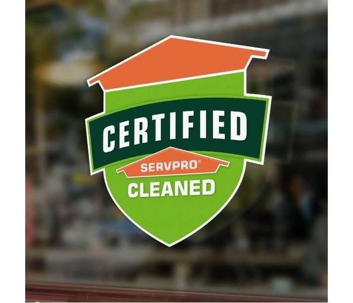 Certified: SERVPRO Cleaned shield