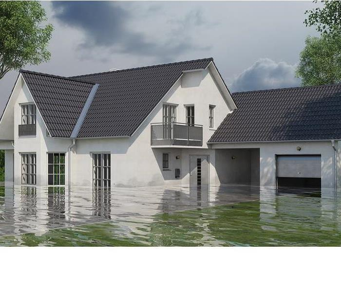 floodwater around house